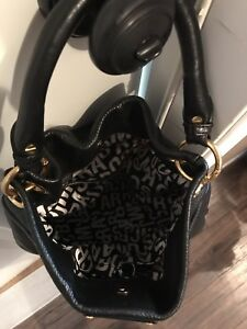 Marc Jacobs Black Leather Hobo Bag