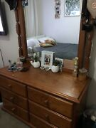 WOODEN 6 DRAWS WITH MIRROR Jesmond Newcastle Area Preview