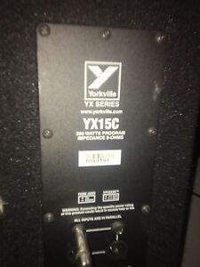 Yorkville/peavey passive sound system. 800 watts