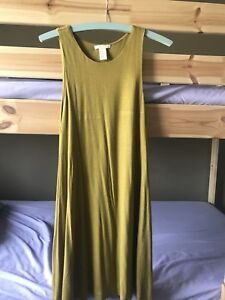 H&M's basic collection mustard dress