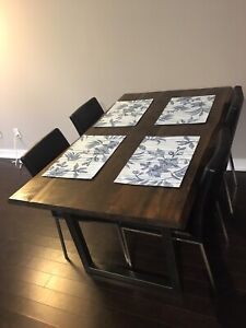 Live Edge Dining Table and Chair Set