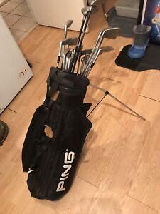 Set de golf pour droitier avec sac
