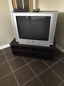 3 Tv stands 2 have working Tvs