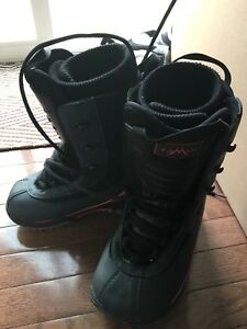 Lamar Snowboard Boots - Black/Red - US 4