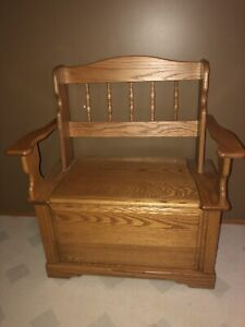 Small Bench with Storage