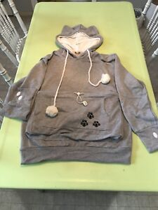Small Hoodie With Pet Kangaroo Carrying Pouch NEW