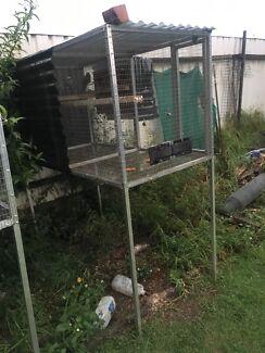 Aluminum suspended bird aviary / cage
