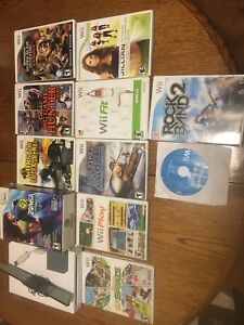 Wii with 10 games