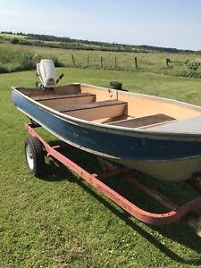 12 foot aluminum boat and motor