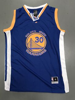 Curry's Golden State Warriors blue jersey, kids and Adult
