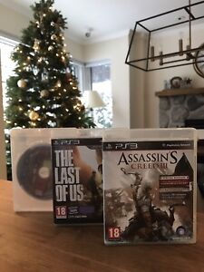 Ps3 games : The Last Of Us, Assassin's creed 3 and Deadpool