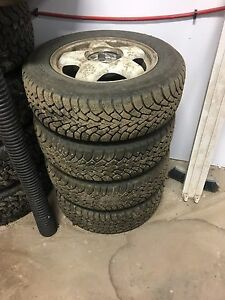 P225/60R16 studded winter tires on rims