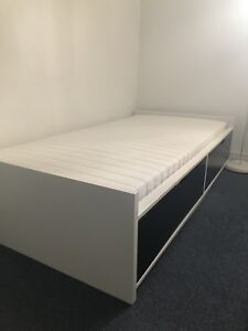 IKEA Flaxa bed with storage + Mattress in mint Condition