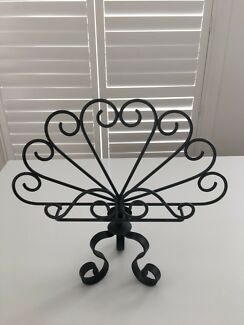 Wrought iron - decorative book display