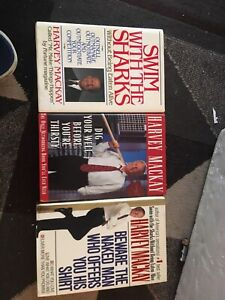3 harvey mackay best seller books one sigbed by him
