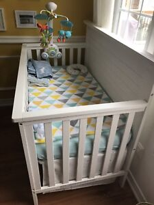 Fisher price crib and mattress