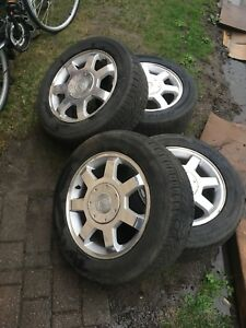 Kumho 225 55 r16 on Cadillac mags