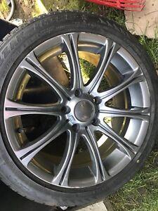 4x mag et pneus d'hiver blizzak 17 BMW