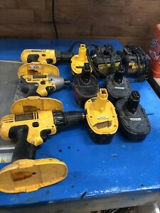 Dewalt drills, and impact with 2 chargers and 5