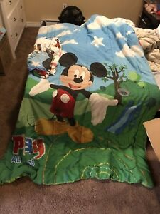 Mickey Mouse twin bedding set