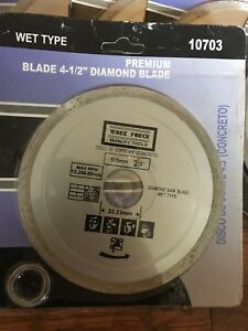 "4-1/2"" Diamond tip cutting blade"