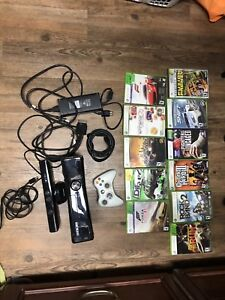 Xbox 360 with Kinect plus 11 games