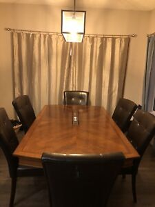Cherry wood with inlay dining table lower price- or offers.