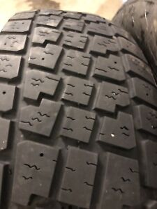 Two 215/70R15 winter tires