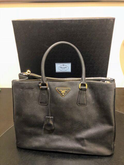 a91f260f9faa Authentic Prada Saffiano Lux Double Zip Tote