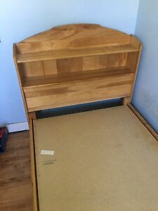 Maple captains bed twin size