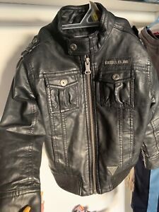 Boys leather Giess coat 4T