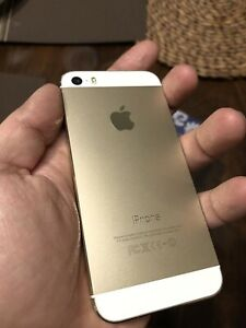 10/10 Gold iPhone 5s - 16gb unlocked, phone only