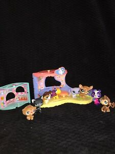 Mini Littlest Pet Shop House With Eight Pets