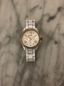 White ladies fossil chronograph watch