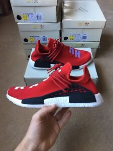 Adidas NMD's human race red boost size 9.5 and 12