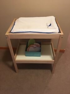 IKEA change table with pad and cover