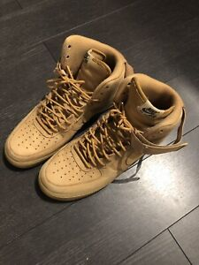 Nike Air Force one high flax wheat size 12