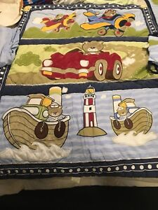 Crib comforter/bumper set plus bonuses