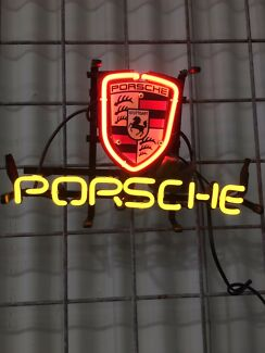 Porsche neon sign  O'Connor Fremantle Area Preview