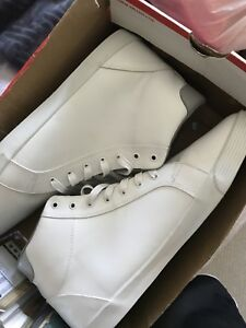 All white MID top shoes ( size12)