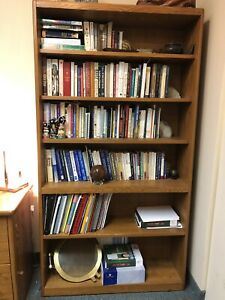 SOLID OAK CUSTOM BOOKCASE