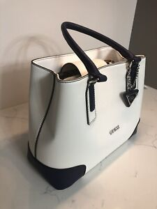 Guess white and navy bag/purse