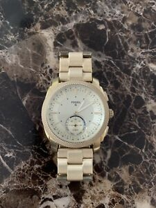 Fossil Q Hybrid Smartwatch - Nate gold - Tone stainless steel