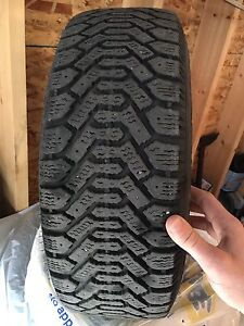 Full set of tires and rims  195/60/14  80% tread. Goodyear