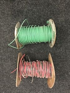 14 gauge power and 10 AWG ground wire spools
