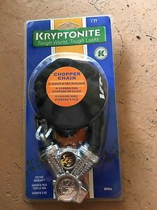 New in package, bike lock chain $15