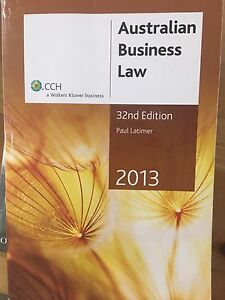 Australian business law 2013 Canterbury Canterbury Area Preview