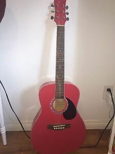 Jay Turser JJ43-Pk 6 string 3/4 sized acoustic guitar in pink