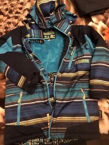 Boys winter coat monster size 10