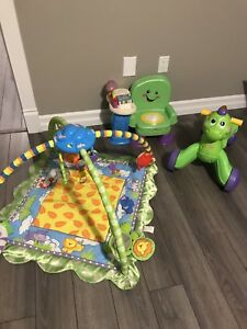 Baby play mat, chair and walker / ride-on dinosaur